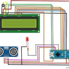 Medición de velocidad con sensor ultrasónico HC