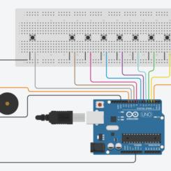 Piano Electrónico con Arduino y Pulsadores